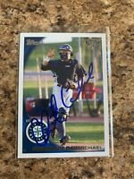 Christian CarMichael Signed 2010 Topps Pro Debut Rc Auto Seattle Mariners