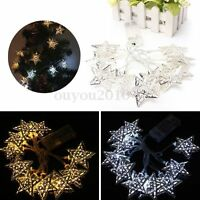 1.2m Moroccan 10 LED Solar Star Fairy String Light Xmas Chirstmas Wedding Party