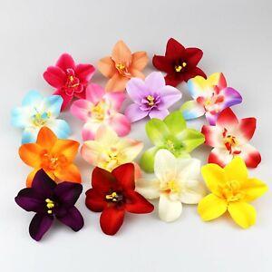 20X Mixed Flowers Artificial Silk Flowers Bulk Orchid Flower Heads Home decor