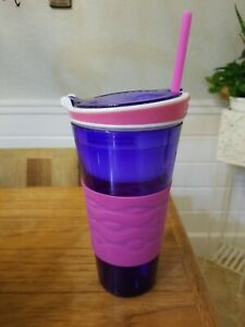 Snackeez 2 In 1 Cup Pink and Purple
