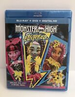 Monster High: Electrified Blu-Ray + DVD + Digital HD Copy Combo Set New!