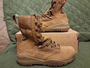 "Nike SFB Field 2 8"" Coyote Brown AQ1202-900 Tactical Boots Size 7 Men/ 8.5 Women"