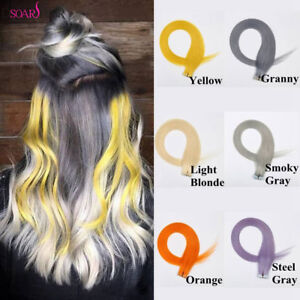 """20""""-24"""" Seamless Tape In Skin Weft Remy Virgin Human Hair Extentions 30gr/20pcs"""