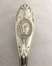 Simpson. H. M & Co. International Medallion Silver Plate Berry Serving Spoon