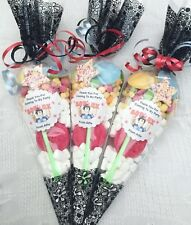 12 x Roblox Inspired Pre Filled Party Cones Personalised + Free Sweety Bag