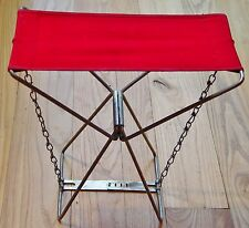 Vintage Old Pal Folding Fishing Camping Hunting Backpacking Stool Seat Chair
