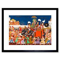 Painting Procession Maharao Ram Singh II Kota India Framed Wall Art Print