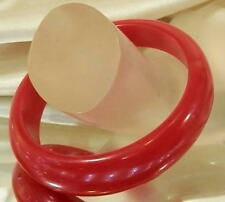 Neat Vintage 60's Assymetric Cherry Red Plastic Lucite Bangle Bracelet 234S6