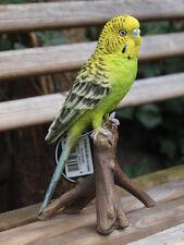Wellensittich Figur lebensecht  Grün Papagei Dekoration  Vögel Vogelfigur HOTANT