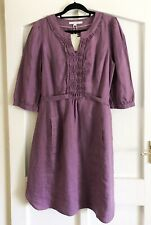 Boden Linen Dress Light Purple Size 16 New