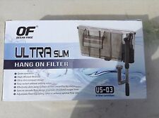 Us-03 ULTRA SLIM ACQUARIO Fish Tank Hang On Filter 300 L / H CON SKIMMER