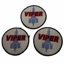 Battlestar Galactica Colonial Viper Pilot Embroidered Patch Set of 3