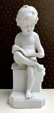 Biscuit porcelaine William GOEBEL Oeslau Bayern Enfant lectrice 1920 CANOVA