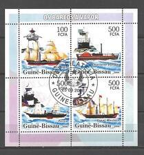 Bateaux Guinée Bissau (87) série complète de 4 timbres oblitérés