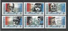 Guernesey 2002 Victor Hugo SG, 935-940 um/M N/H Lot R631