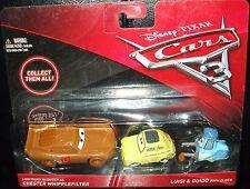 Disney CARS 3  Lightning McQueen as CHESTER WHIPPLEFILTER LUIGI & GUIDO w/ cloth