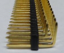 5  strips 2 x 50 way 2.54mm 0.1inch pitch right angle pin header strip 100 pin