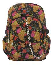 Vintage SUGARSKULL Flower Tattoo Backpack Rucksack School College Goth Skull Bag