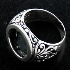 "Sterling Silver Sz 8 ring Finding 5/8"" Face 9Gr Bali Handmade 925"