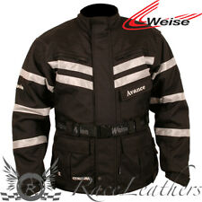 WEISE ADVANCE CE APPROVED LEVEL 2 ARMOURED WATERPROOF MOTORCYCLE JACKET