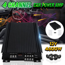 4600W 4 Channel Car Amplifier Stereo Audio Super Bass Subwoofer Power Amp DC 12V