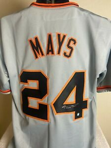 WILLIE MAYS SIGNED AUTOGRAPHED SAN FRANCISCO GIANTS JERSEY Mays Holo