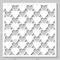 Square Love Heart Pattern Metal Cutting Die Scrapbooking Embossing Dies Stencil