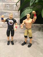 JOHN CENA Tough TALKERS Figure WWE LOT-2 W/ Regular Cena Figure 2013 Mattel WWF
