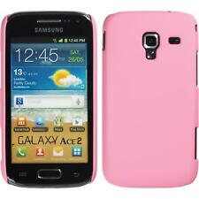 Hardcase for Samsung Galaxy Ace 2 rubberized pink Cover + protective foils