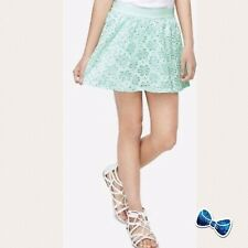 Justice Girl's Size 10 Hint of Mint Sequined Lace Skirt New With Tags