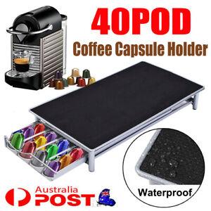 For Nespresso 40 Coffee Capsules Pod Holder Stand Dispenser Rack Storage Capsule