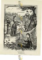 New Dresses in the Garden, Victorian Fashion, Book Illustration (Print), 1881/2