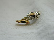 Clogau Sterling Silver & Welsh Gold Taxi Bead Charm with Floral Bead