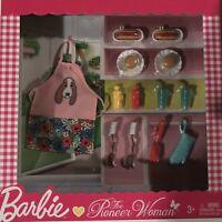 """Barbie THE PIONEER WOMAN Walmart Mattel """"BBQ Grilling Time"""" 16+ accessories NIB"""