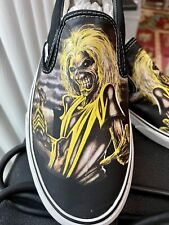 Iron Maiden Killers Vans Mens Size 11 Slip On New In Box