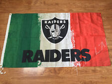 Oakland Raiders flags 3x5ft oil painting style flag with 2 Metal Grommets