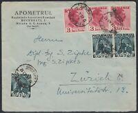 32951) Rumänien BUCURESTI 1940 Brief nach Zürich Schweiz