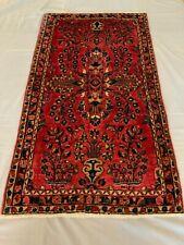 "24""x48""Sarouk Oriental Rug Handmade Woven Genuine Antique (ca.1920)"