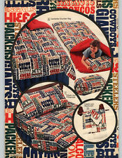 1972 PAPER AD 2 Pg NFL Bedding Bath Sleeping Bag Pillow Sheets Towels Dolphins