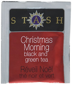 Stash Tea Christmas Morning Black & Green Tea 100 Count Tea Bags in Foil May Tea