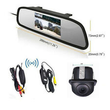 """4.3""""LCD Mirror Monitor+ Wireless Backup 360° Rotatable Camera for Parking System"""