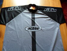 ^ KTM, genuine tagged,  Motocross Racing Baggy Shirt, Grey, Large, last one!!