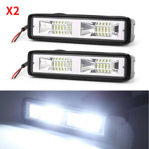 """2X6"""" 16 LED Fog Light for Car Motorcycles Off-road Vehicles Auxiliary Spotlights"""