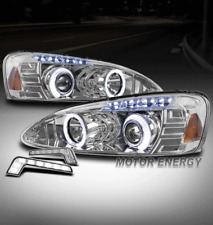 04-08 PONTIAC GRAND PRIX HALO LED PROJECTOR HEADLIGHTS LAMPS CHROME W/DRL SIGNAL