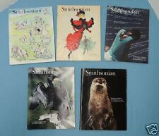 SMITHSONIAN ~ 5 issues for 1991 -- January , and July, Aug, Sept, Oct ~ V/G +