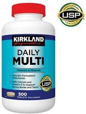 Kirkland Signature Daily Multi Vitamins - 500 Tablets, Exp. 05/22