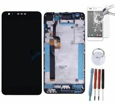 ECRAN LCD + VITRE TACTILE SUR CHASSIS BLOC COMPLETE POUR HTC DESIRE 825 NOIR