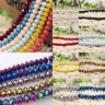 Natural Rondelle Faceted Crystal Glass Spacer Loose Beads Finding 4/6/8/10MM DIY