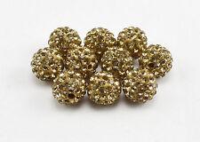 5/10/20pcs 10mm CZ Crystal Paved Clay Disco Ball Beads for Shamballa Bracelets