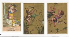 VICTORIAN TRADE CARDS-LOT OF 3 PHILADELPHIA ,PA TRADE CARDS